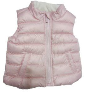EUC  GIRLS 3-6 MO PINK PUFFER VEST, OLD NAVY